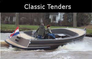classic tenders zijn luxe aluminium boten ontworpen door van vossen tenders
