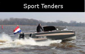 sport tenders zijn snelle aluminium boten ontworpen door van vossen